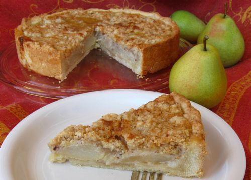 Pear Cake with Custard and Streusel Recipe