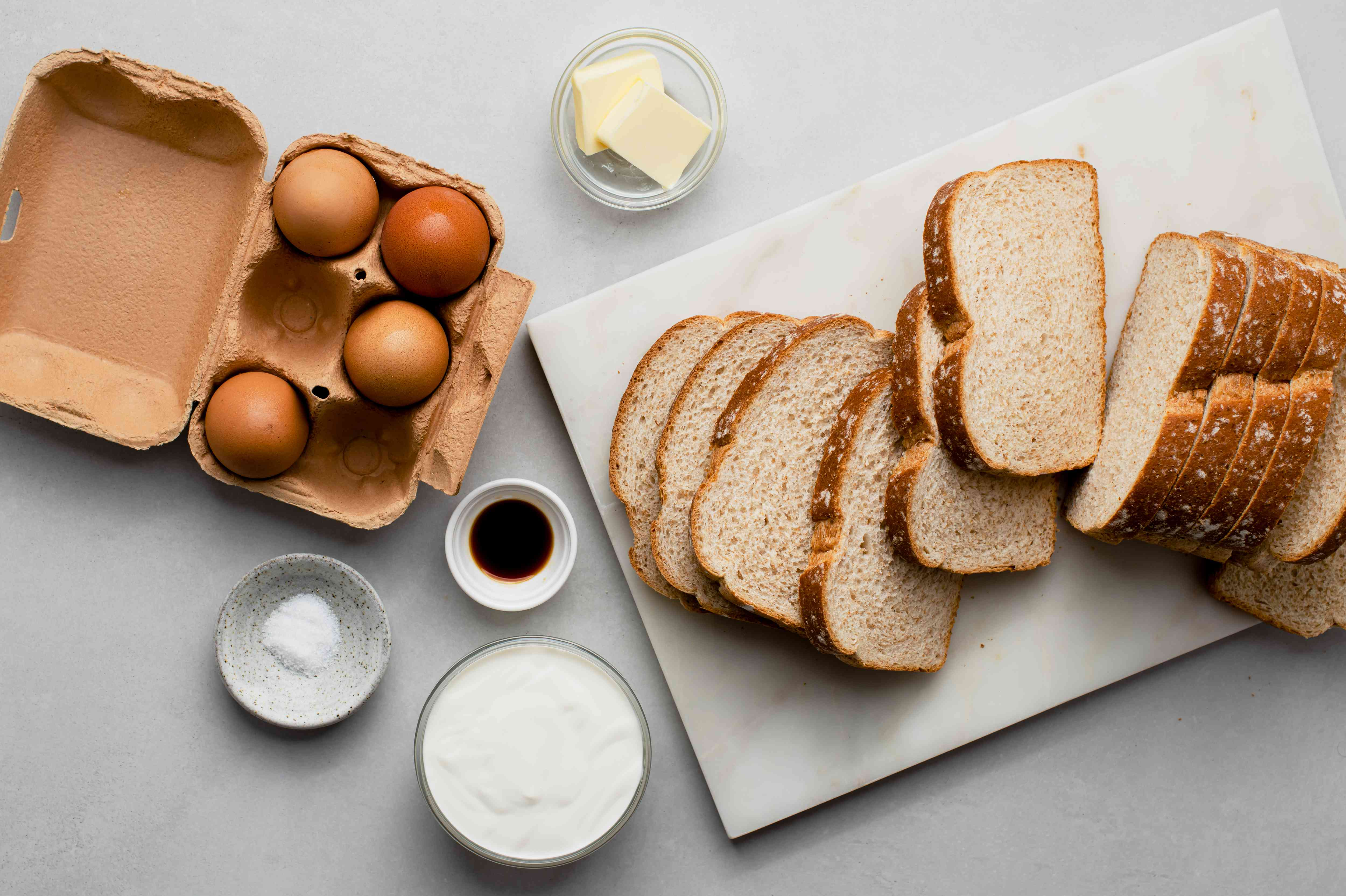 Skillet French Toast ingredients