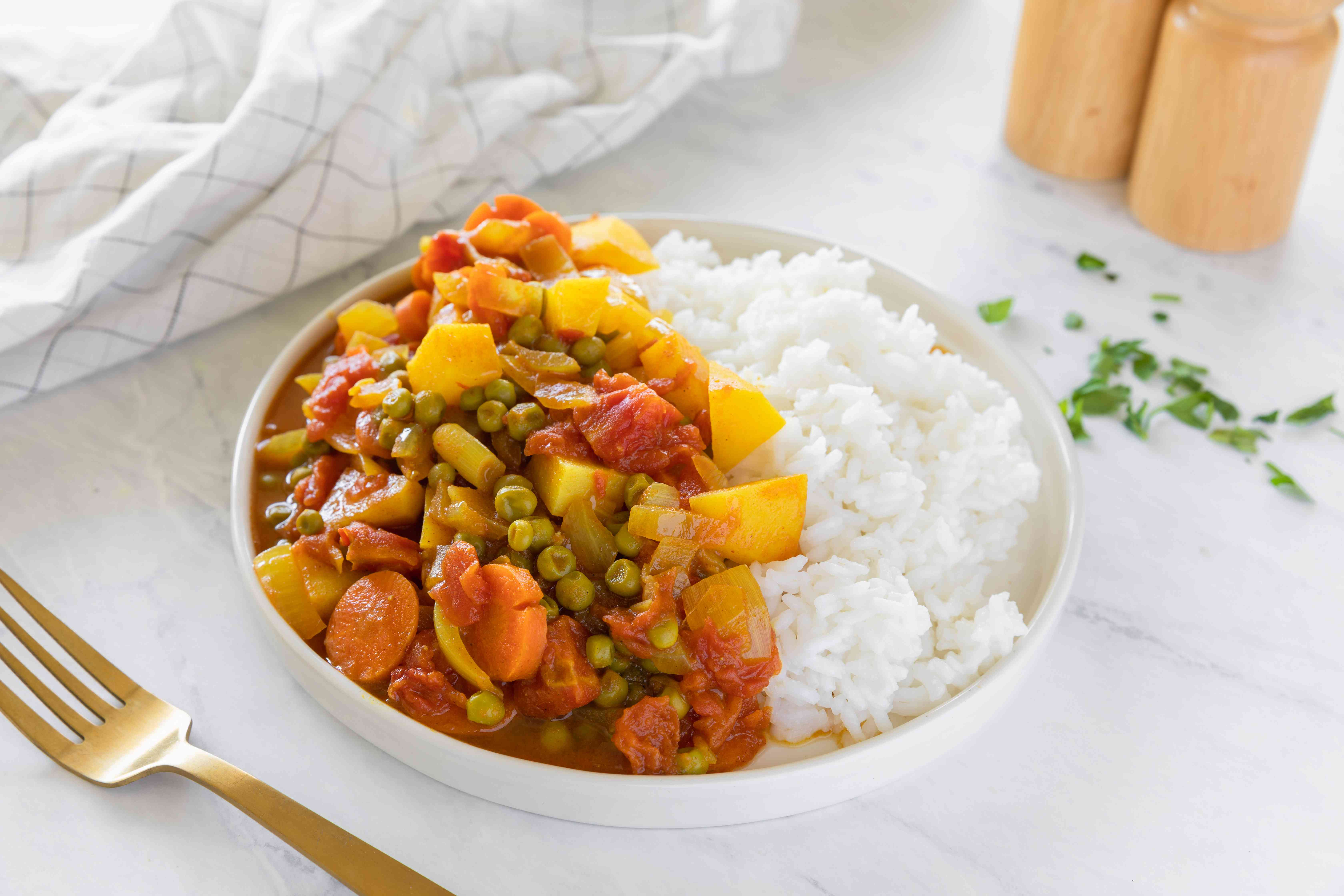 Curried Indian vegetables recipe