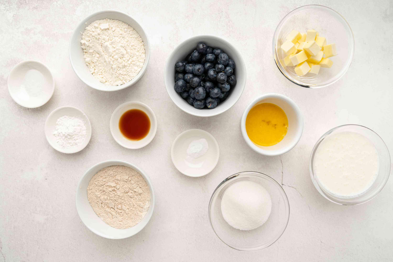 Low-Fat, Low-Calorie Blueberry Scones ingredients