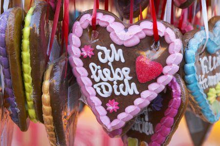 German Gingerbread Hearts Markt Lebkuchenherzen