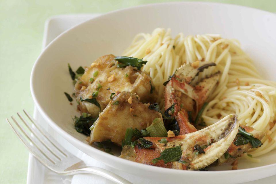 crab and pasta