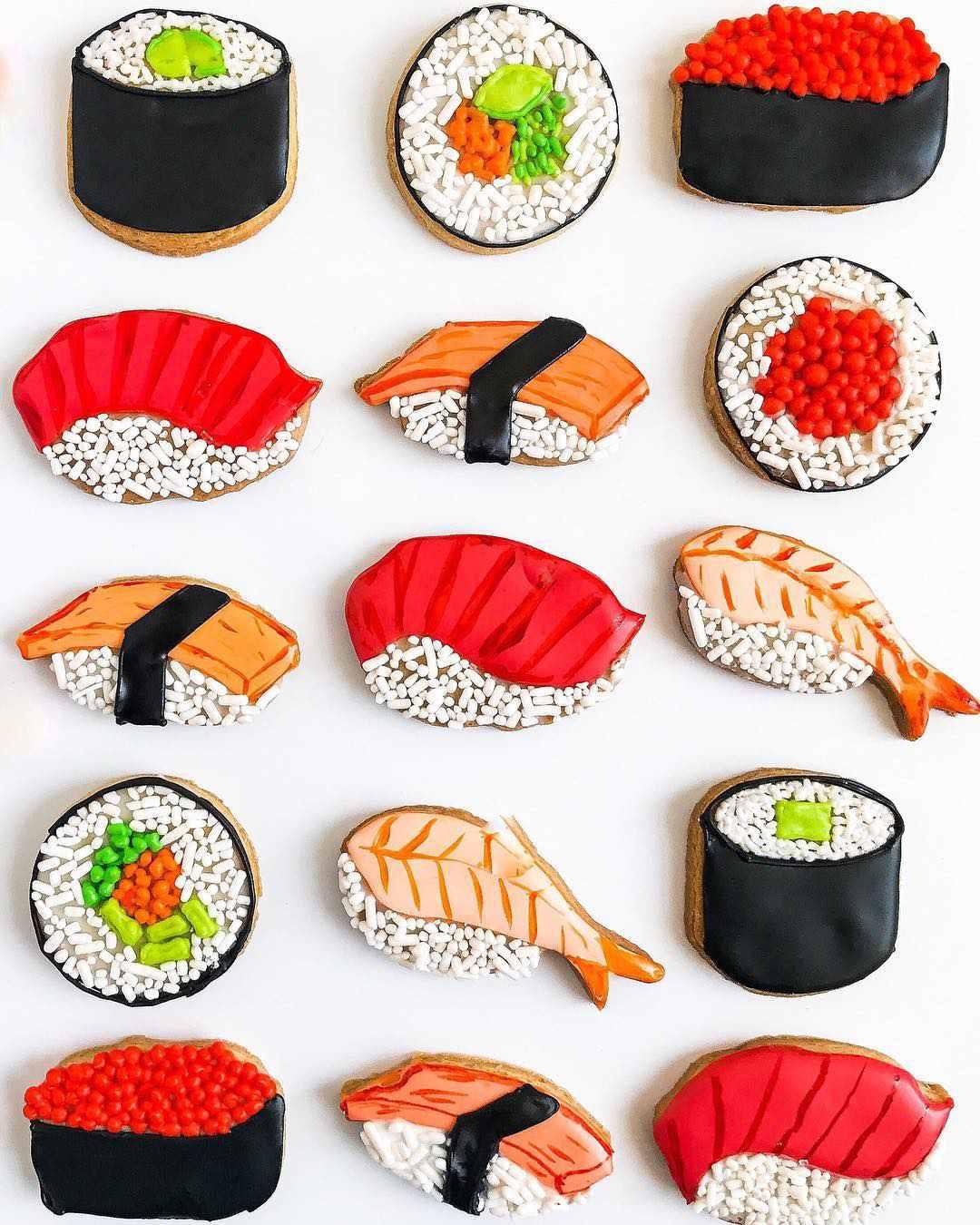 Royal Icing Sushi