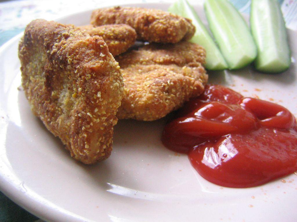 Fried seitan mimics fried chicken