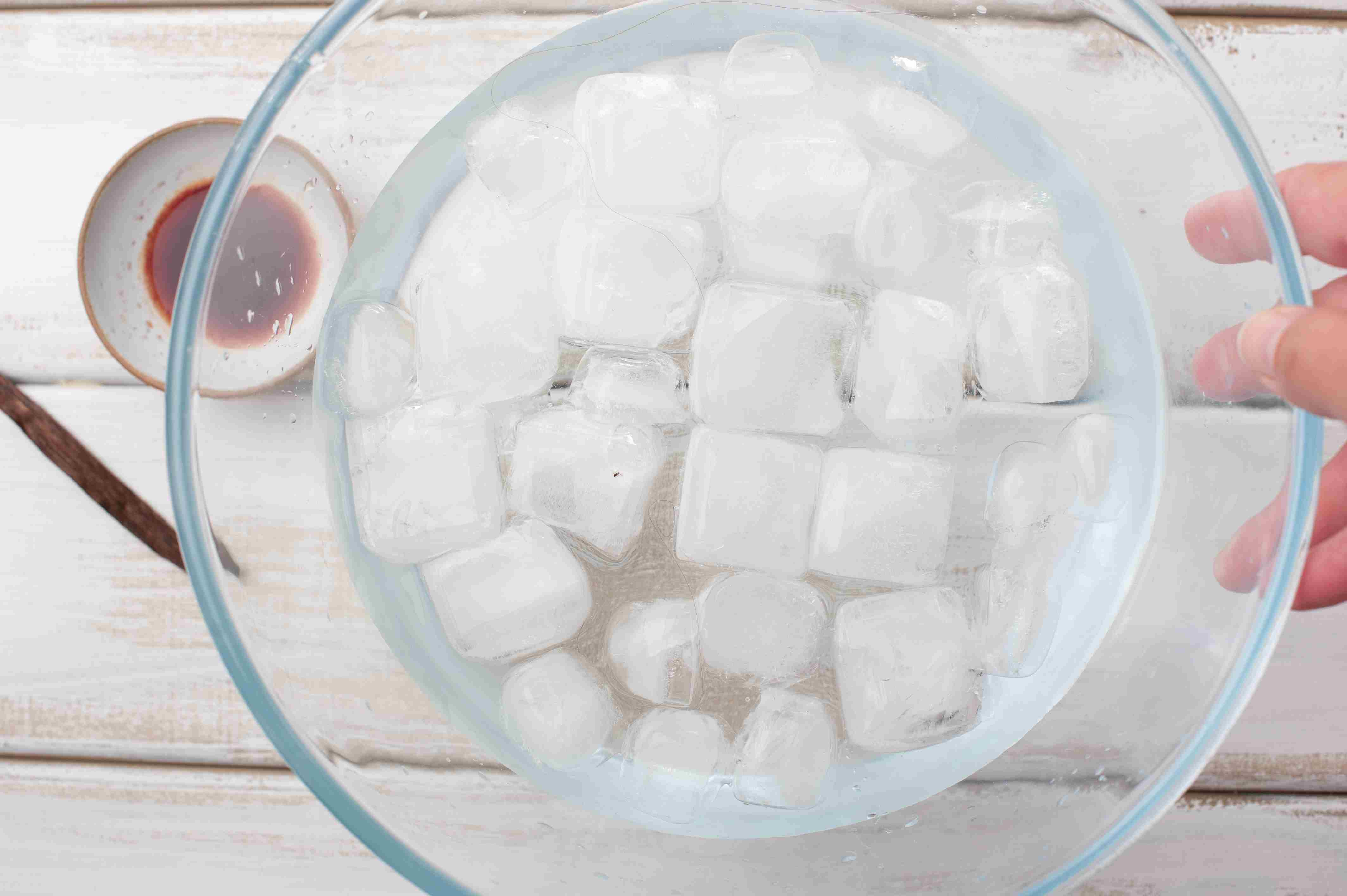 Fill a bowl with ice