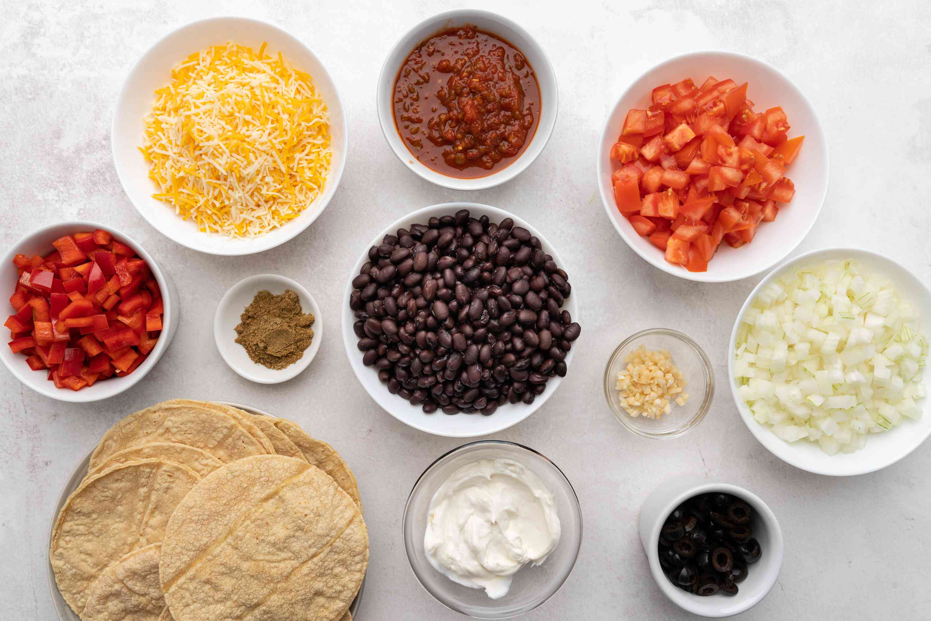 Vegetarian Mexican Casserole With Black Beans ingredients