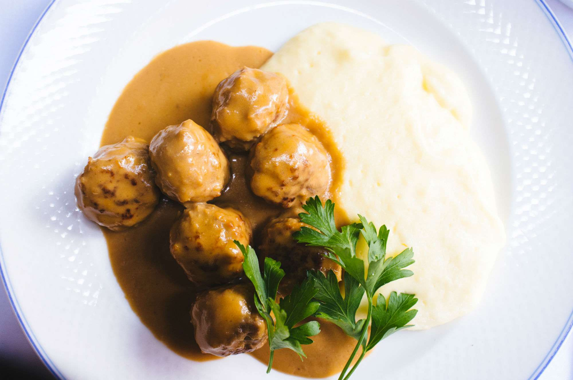 Traditional Sweden meatball.