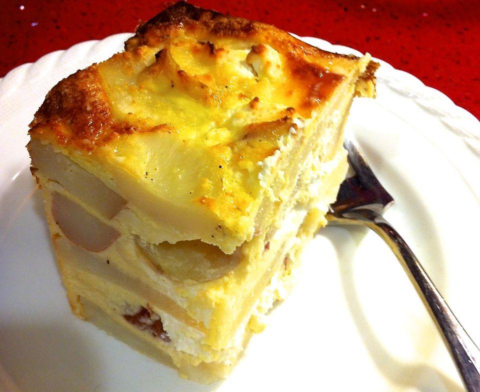 Cazuela de papa y queso: Pastel de papas