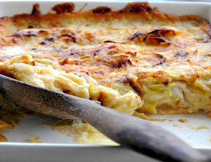 Cauliflower cheese with leeks