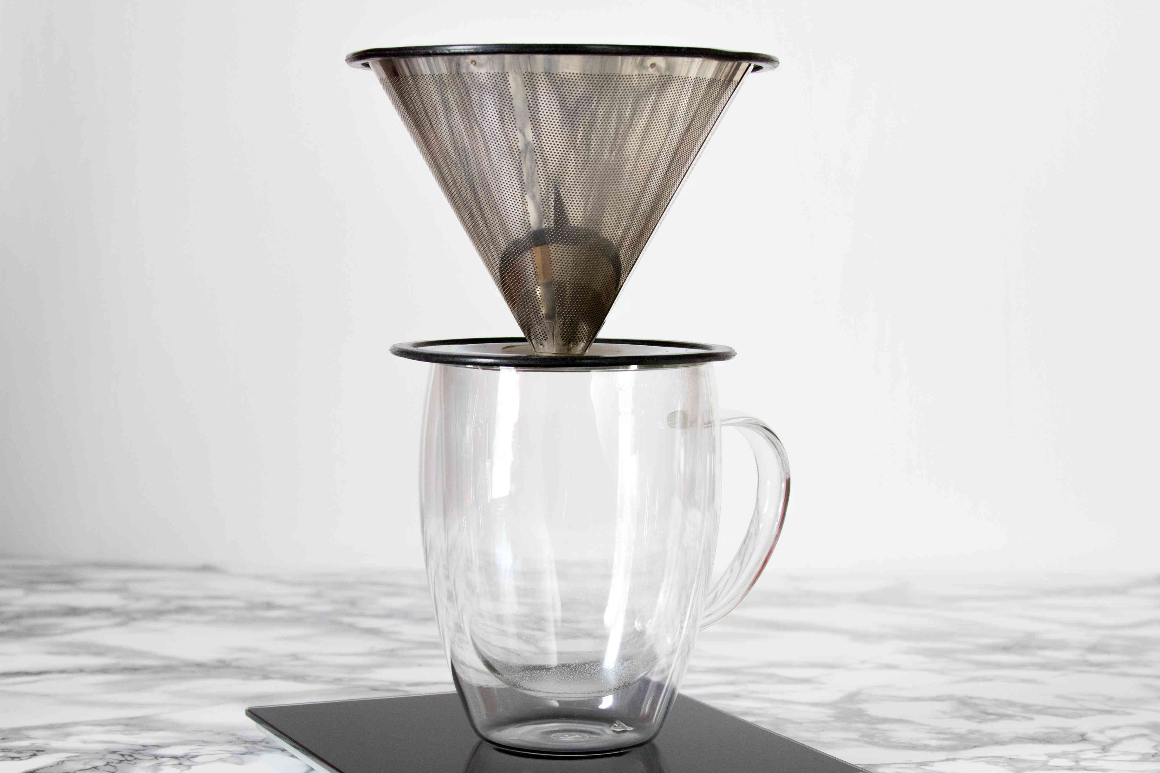 Setup for Pour-Over Coffee Brewing
