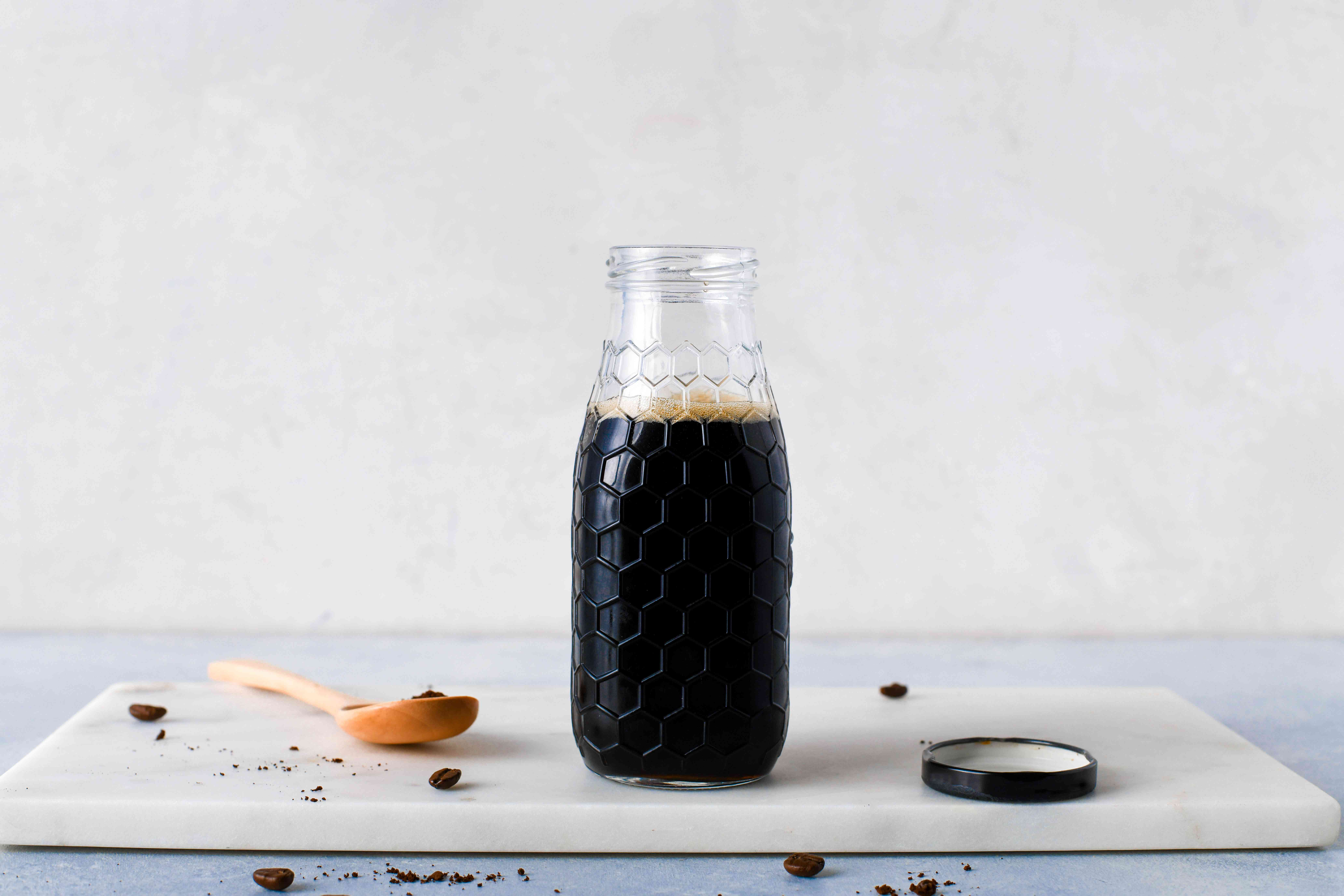 Coffee Syrup in a glass jar