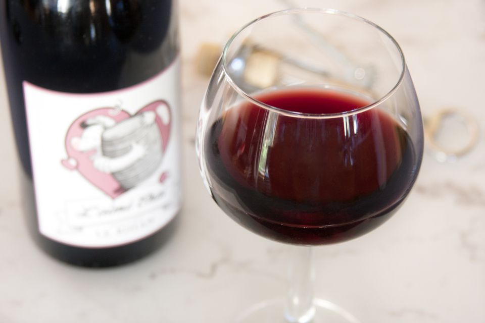Glass of Natural Red Wine
