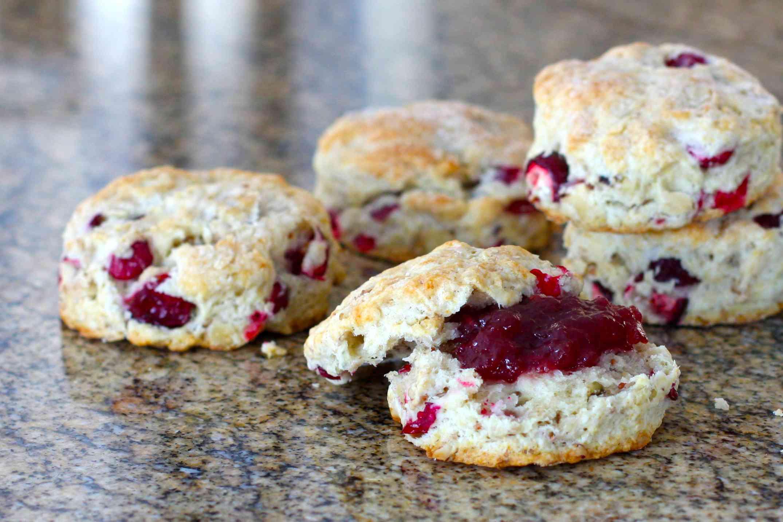 Cranberry walnut biscuits