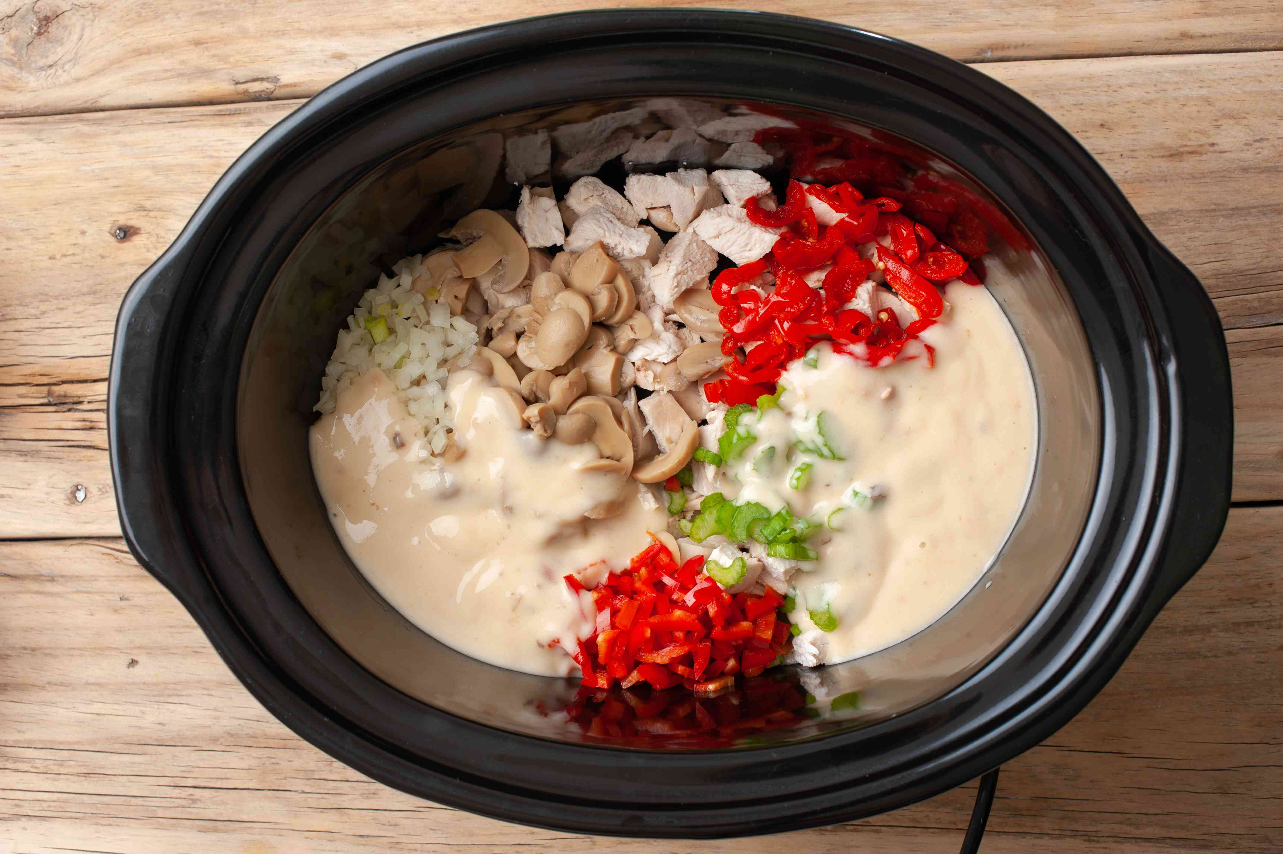 Combine chicken and bell pepper