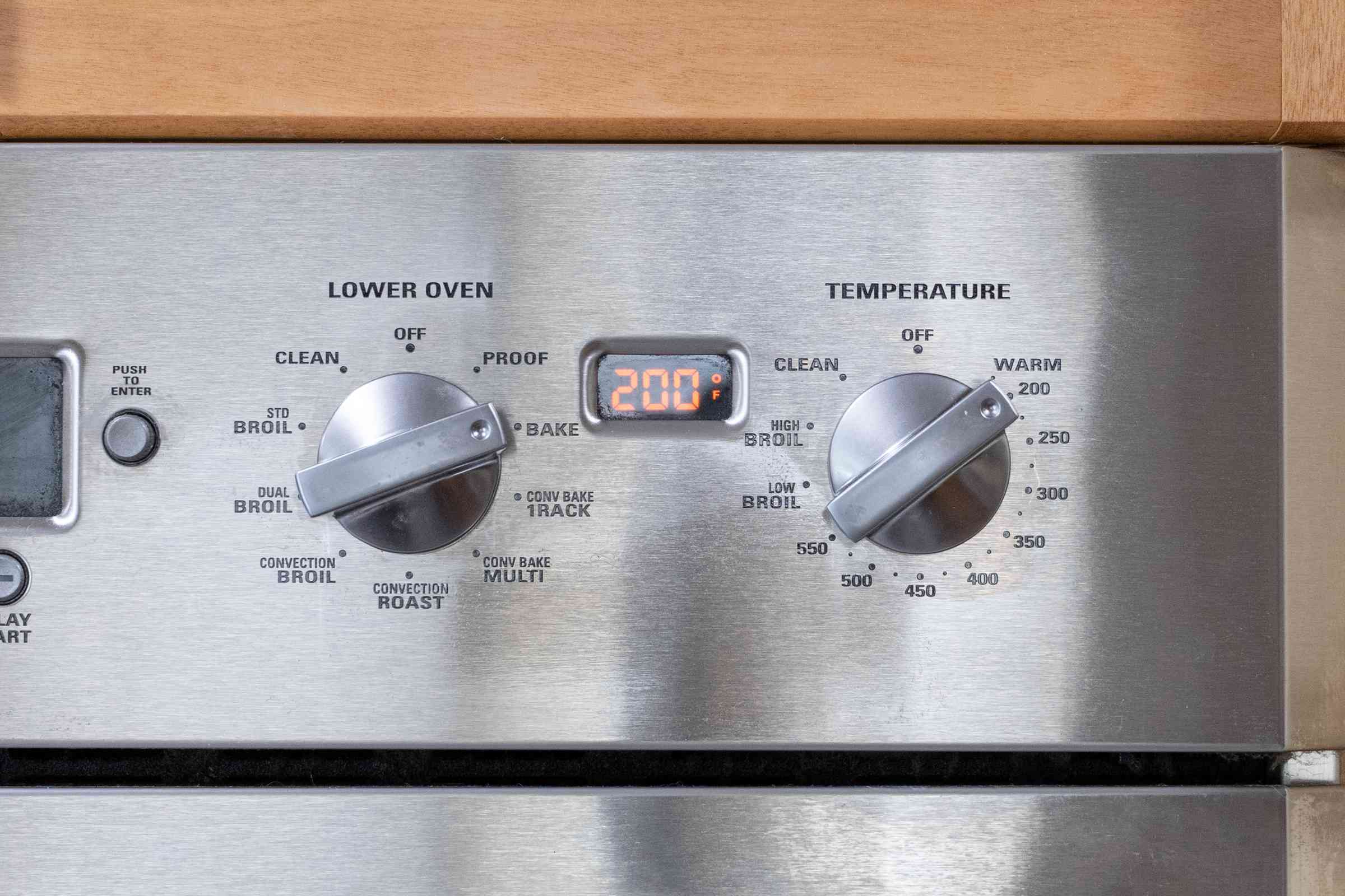 heat the oven to 200 F