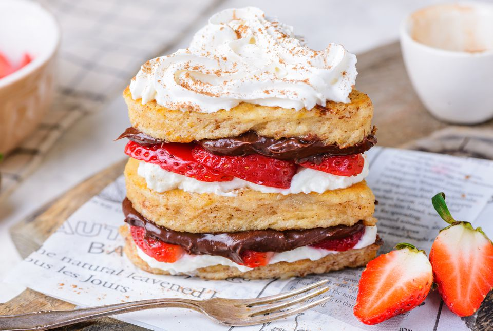 Nutella strawberry grilled cheese recipe