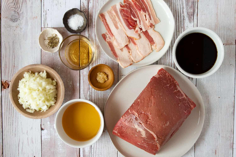 Ingredients for braised bottom round roast