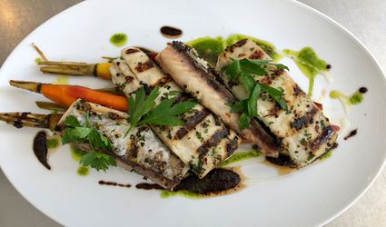 chef chris scott's grilled mackerel dish