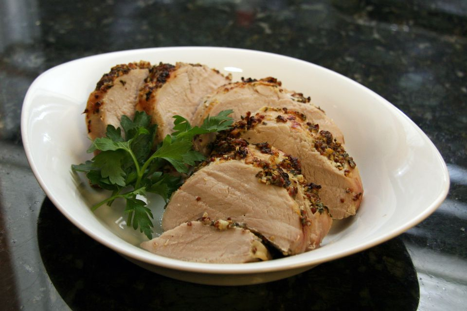 Mustard and Garlic Crusted Pork Tenderloin