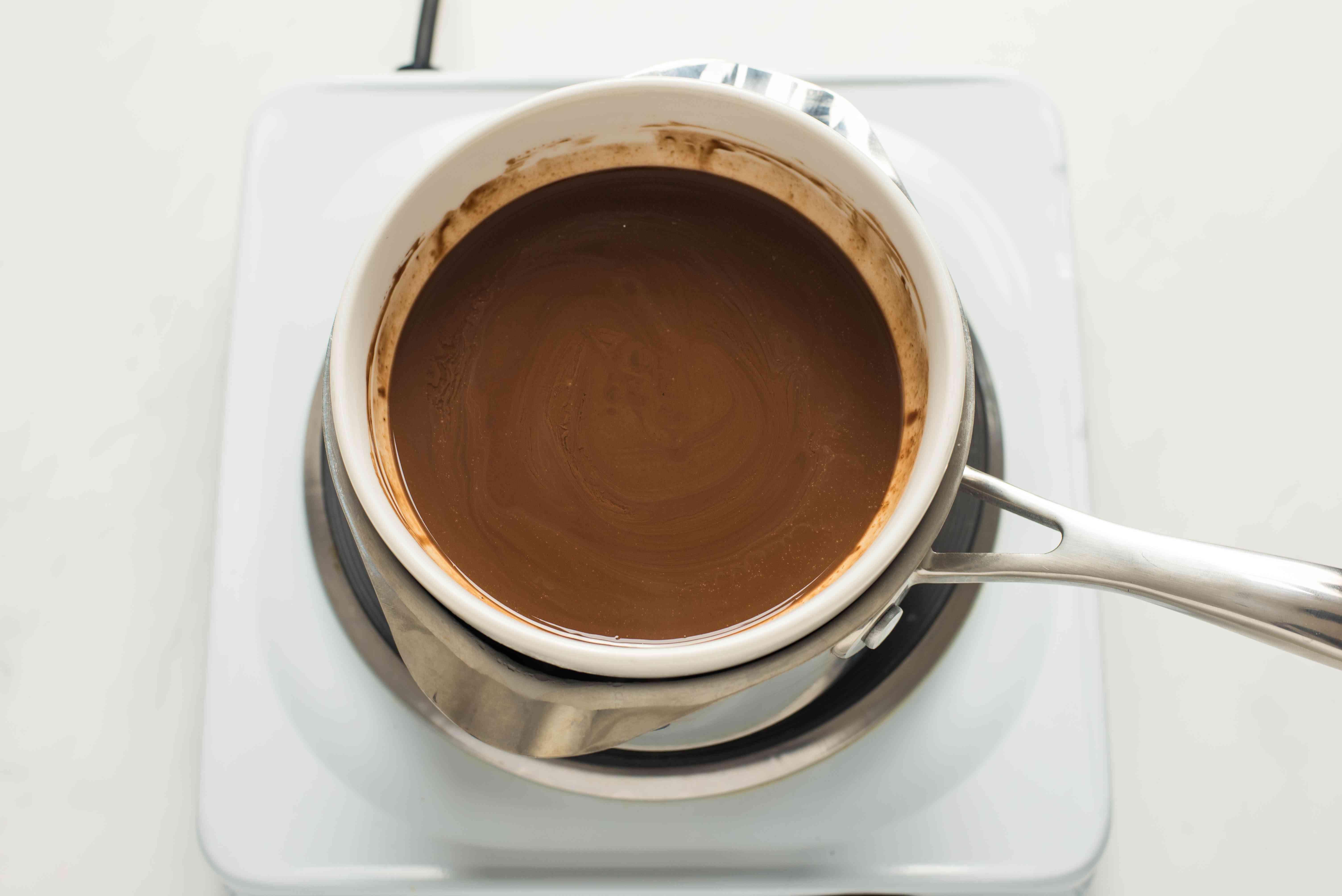 Gently melt chocolate