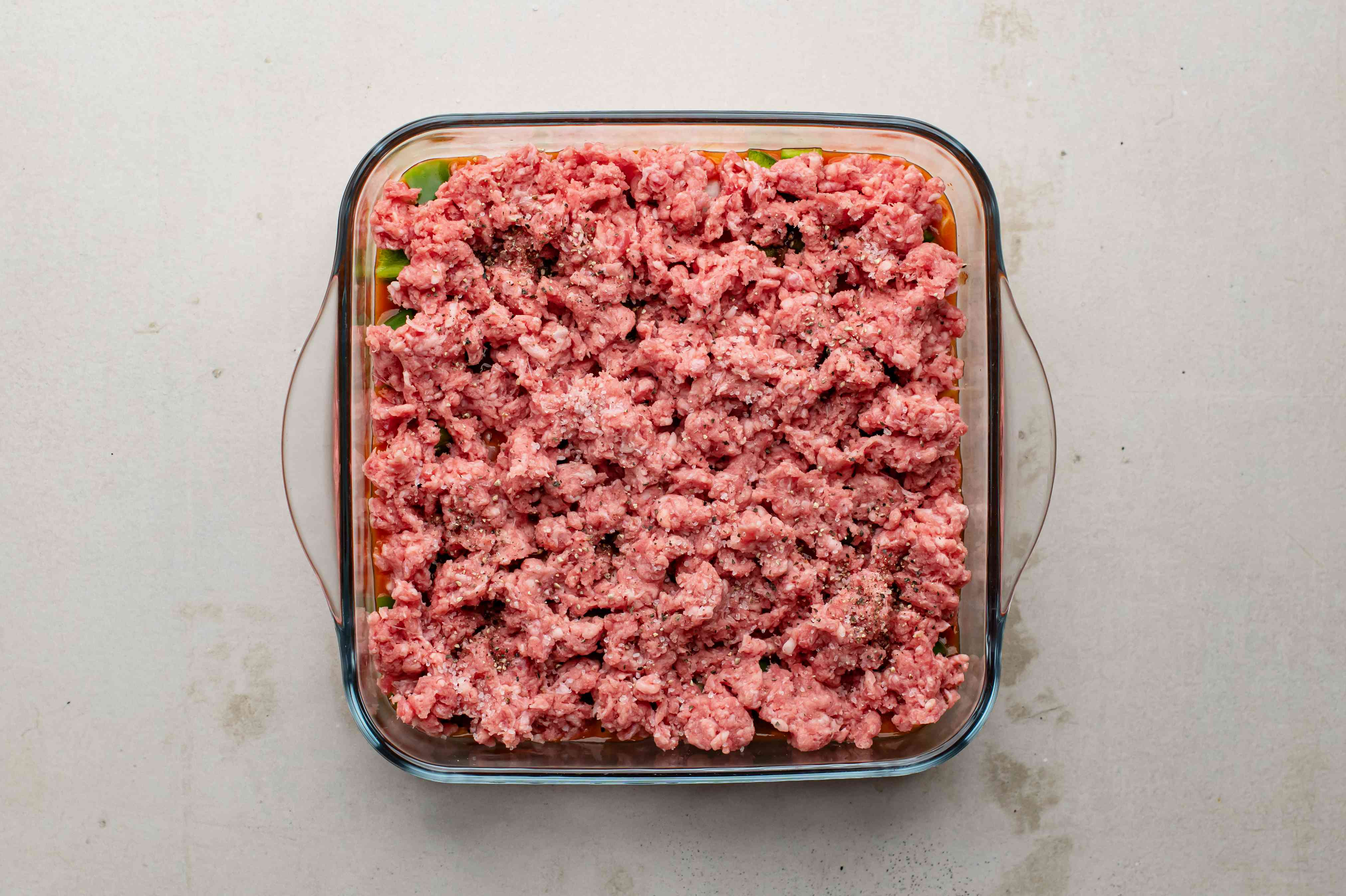 Top with ground beef
