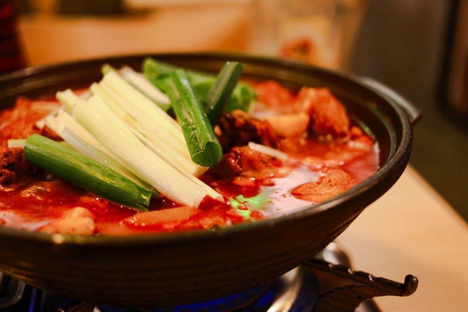 Korean spicy chicken stew