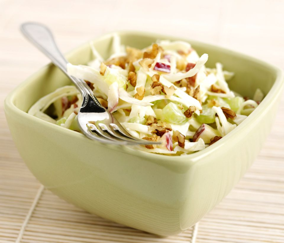 Raw vegan Waldorf salad