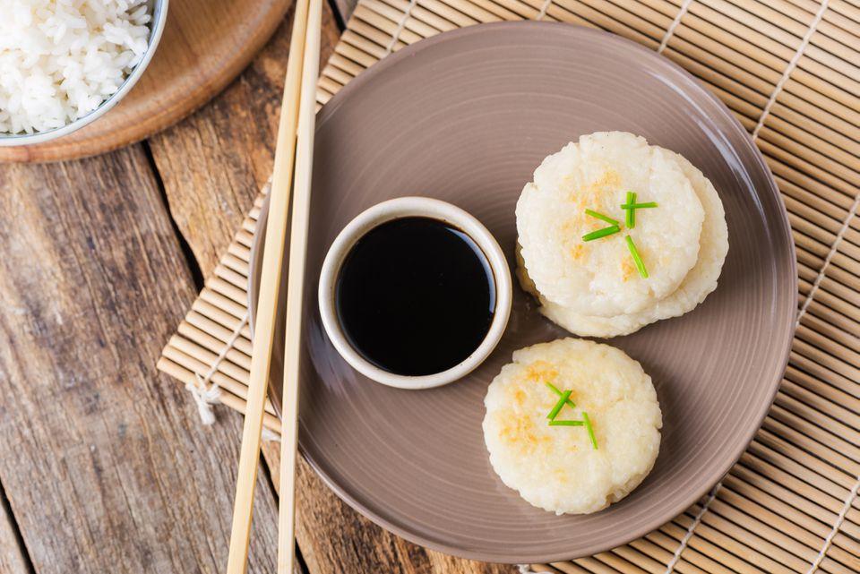 Pan fried rice cakes