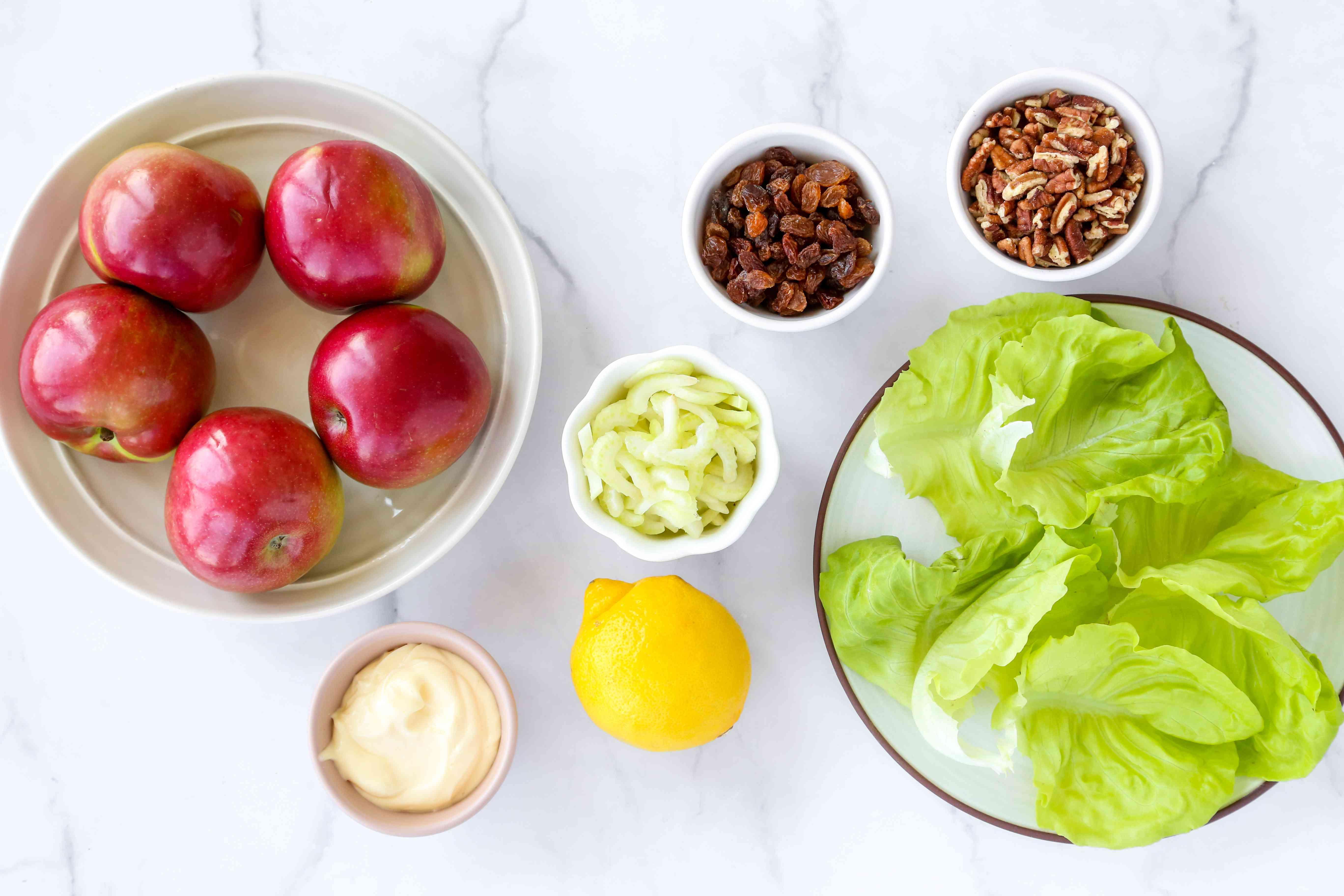 Ingredients for apple salad