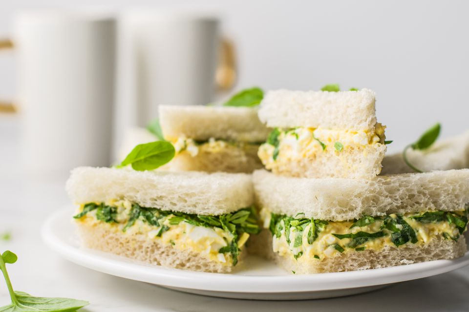 Watercress egg salad tea sandwiches recipe