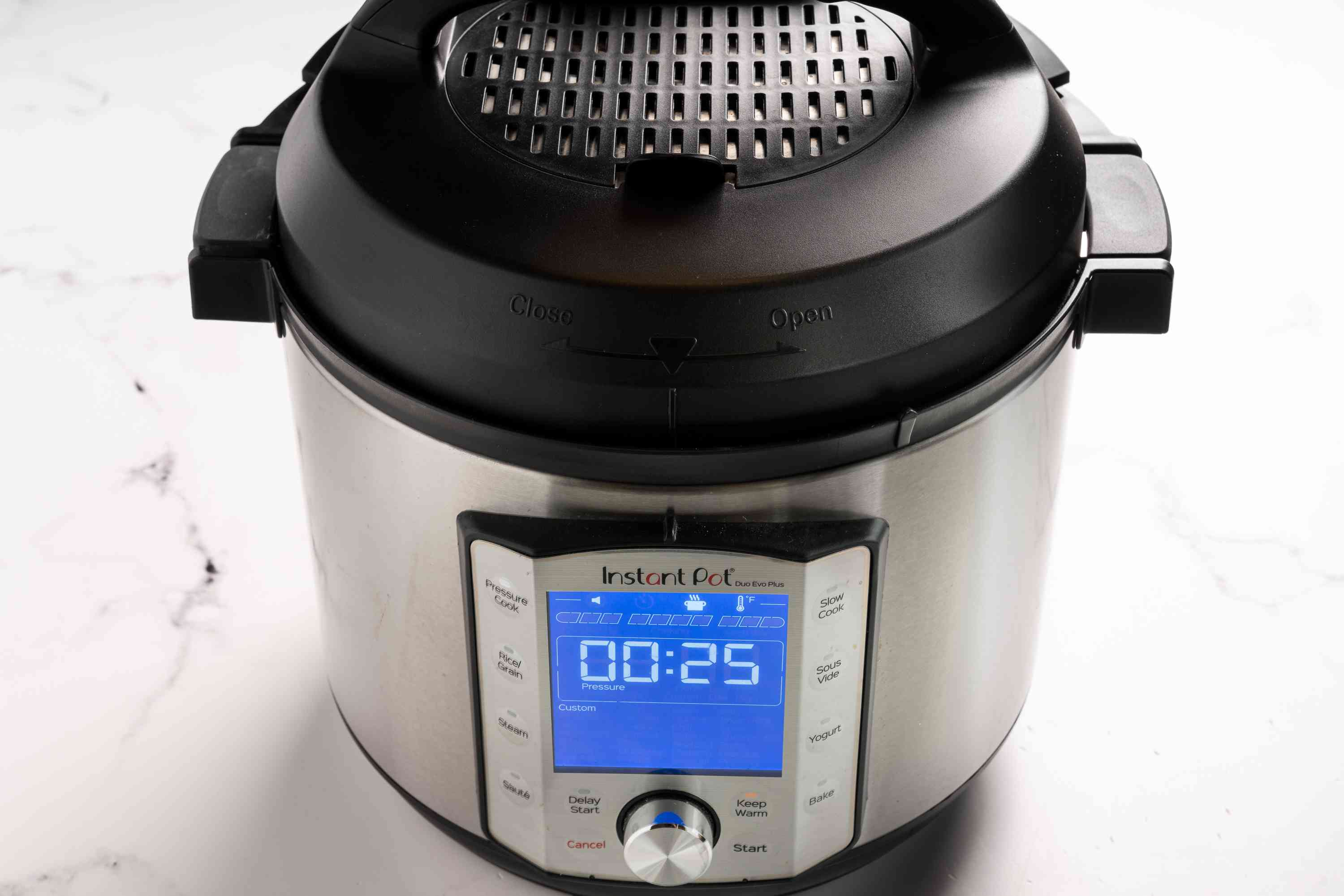 Venting position on the Instant Pot lid
