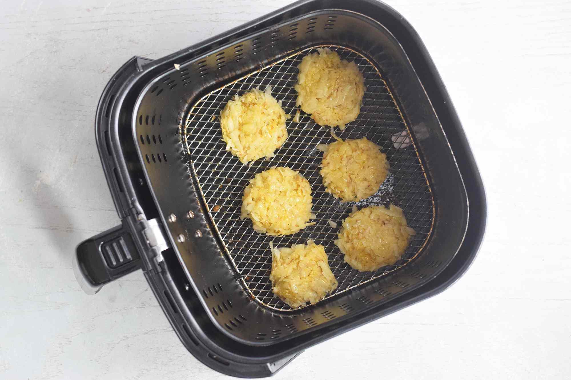 Air frying latkes