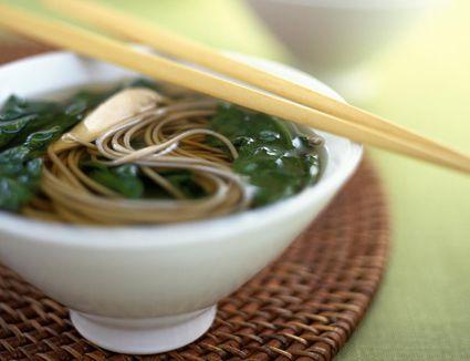 Soba noodles in a dashi broth