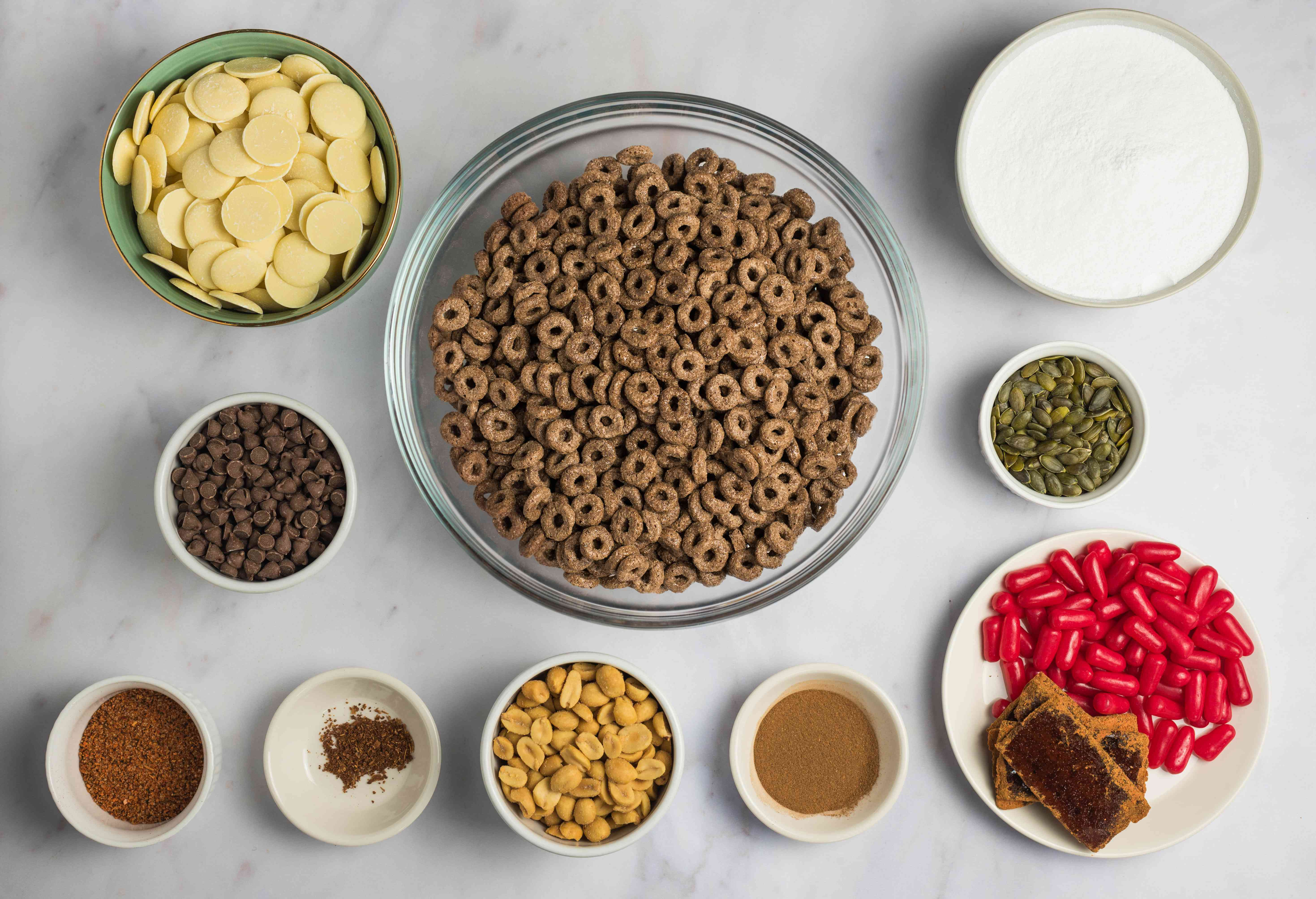 Ingredients for Mexican puppy chow