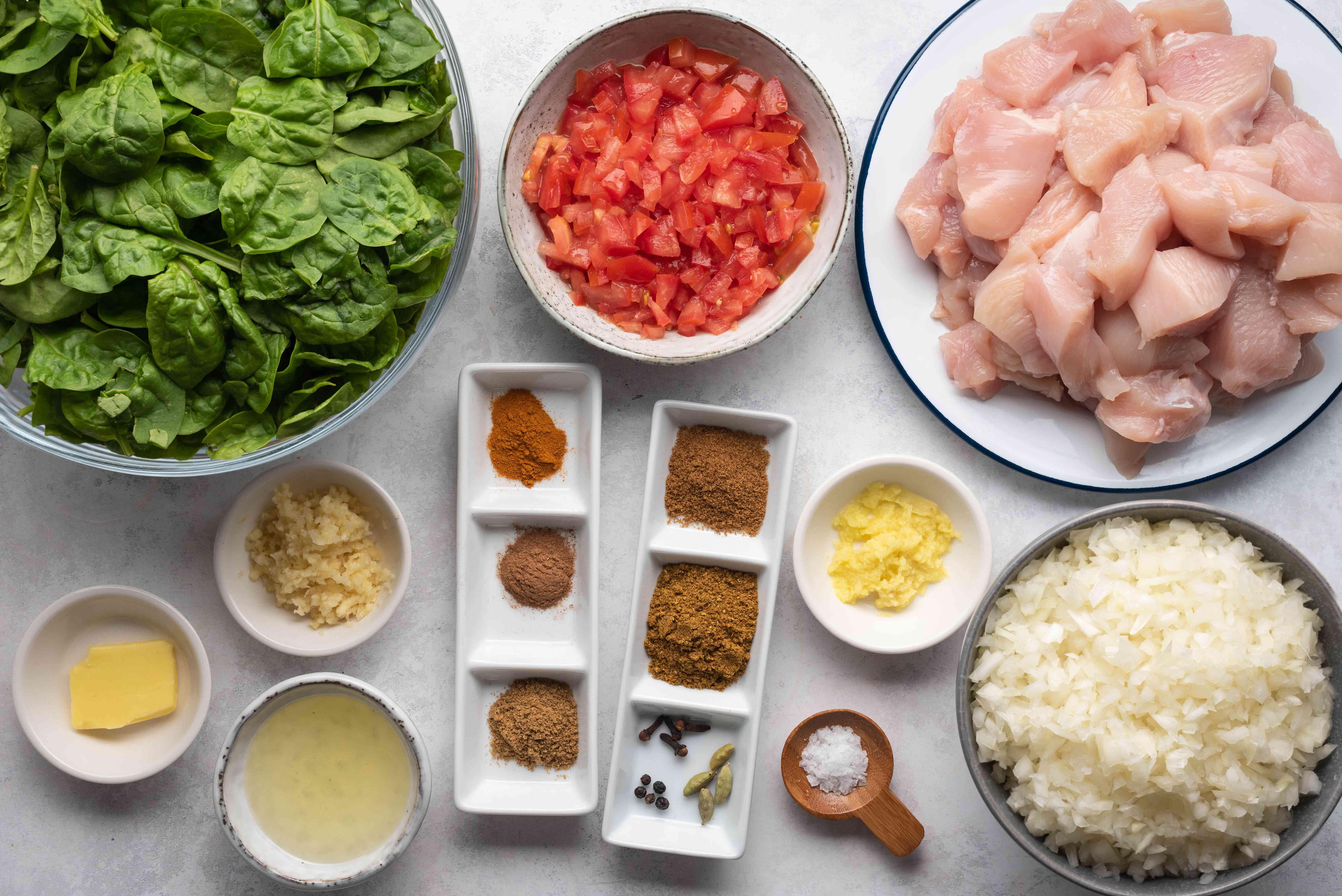 Chicken Saagwala ingredients