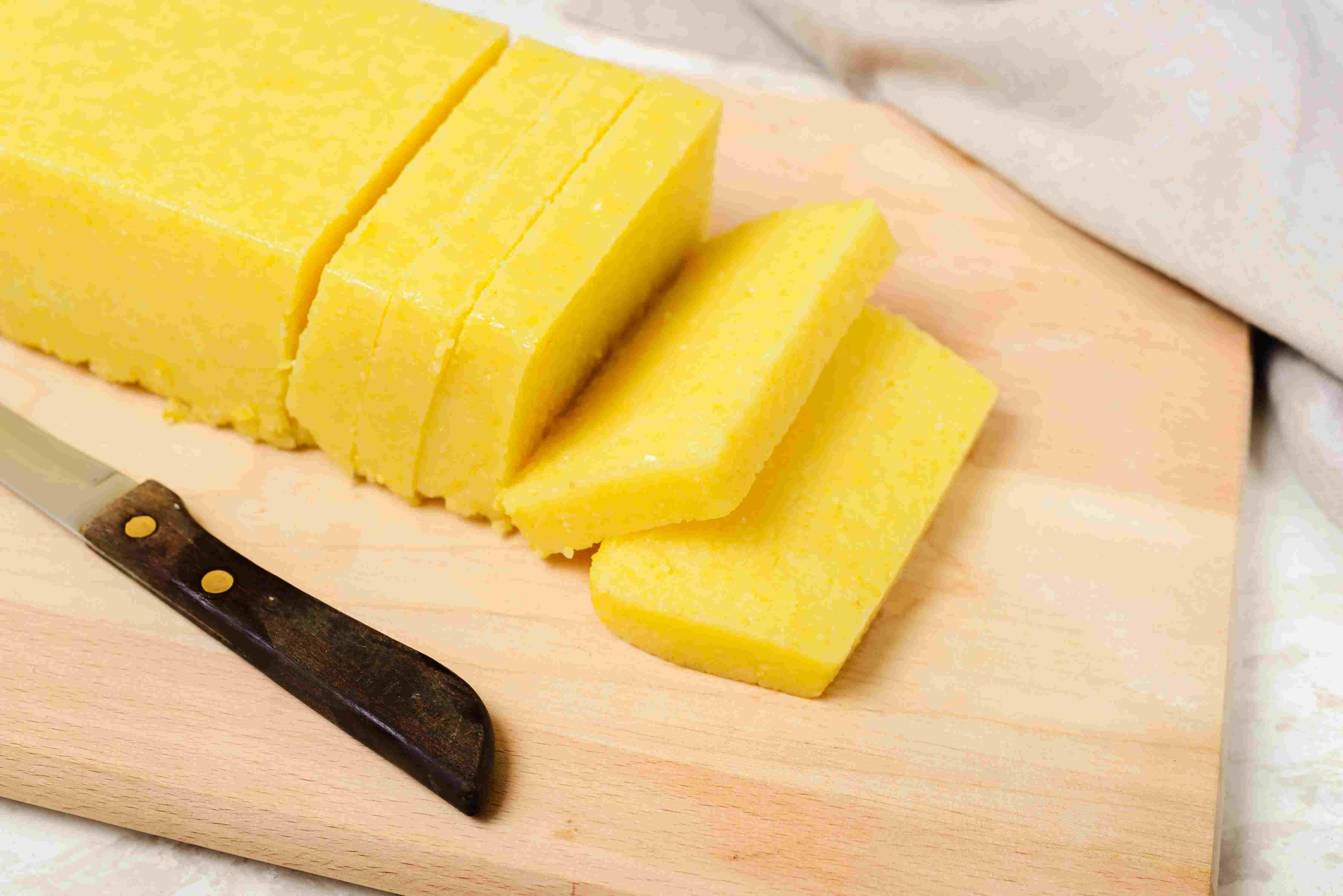 Cut polenta