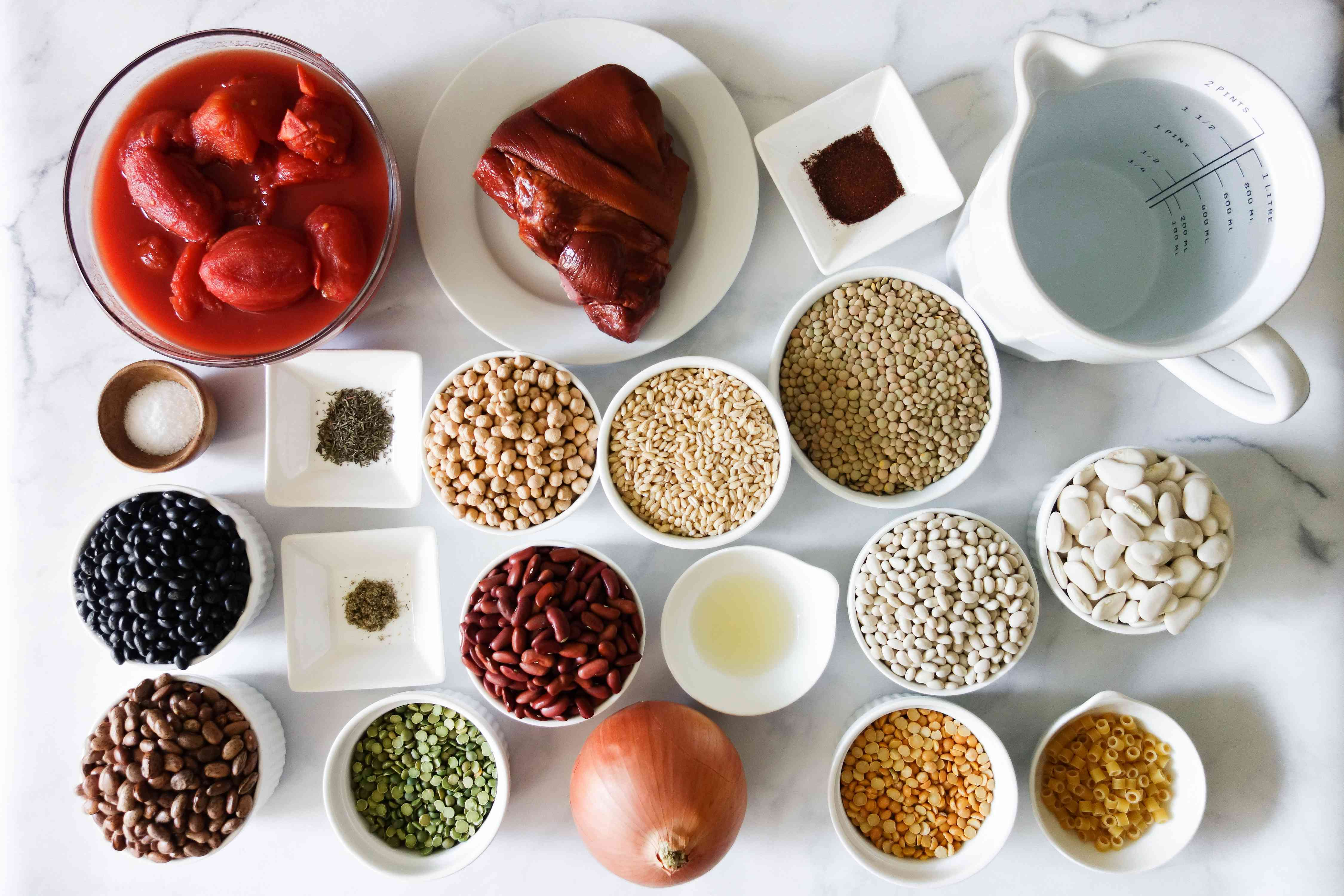 Ingredients for 9-bean soup