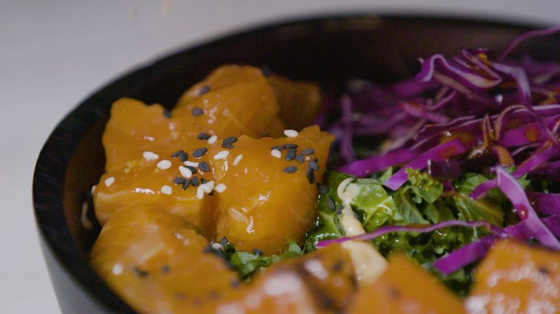 Spicy Salmon Poke Bowl