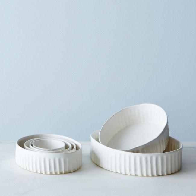 Judy Jackson Stoneware Oval Nesting Ramekins