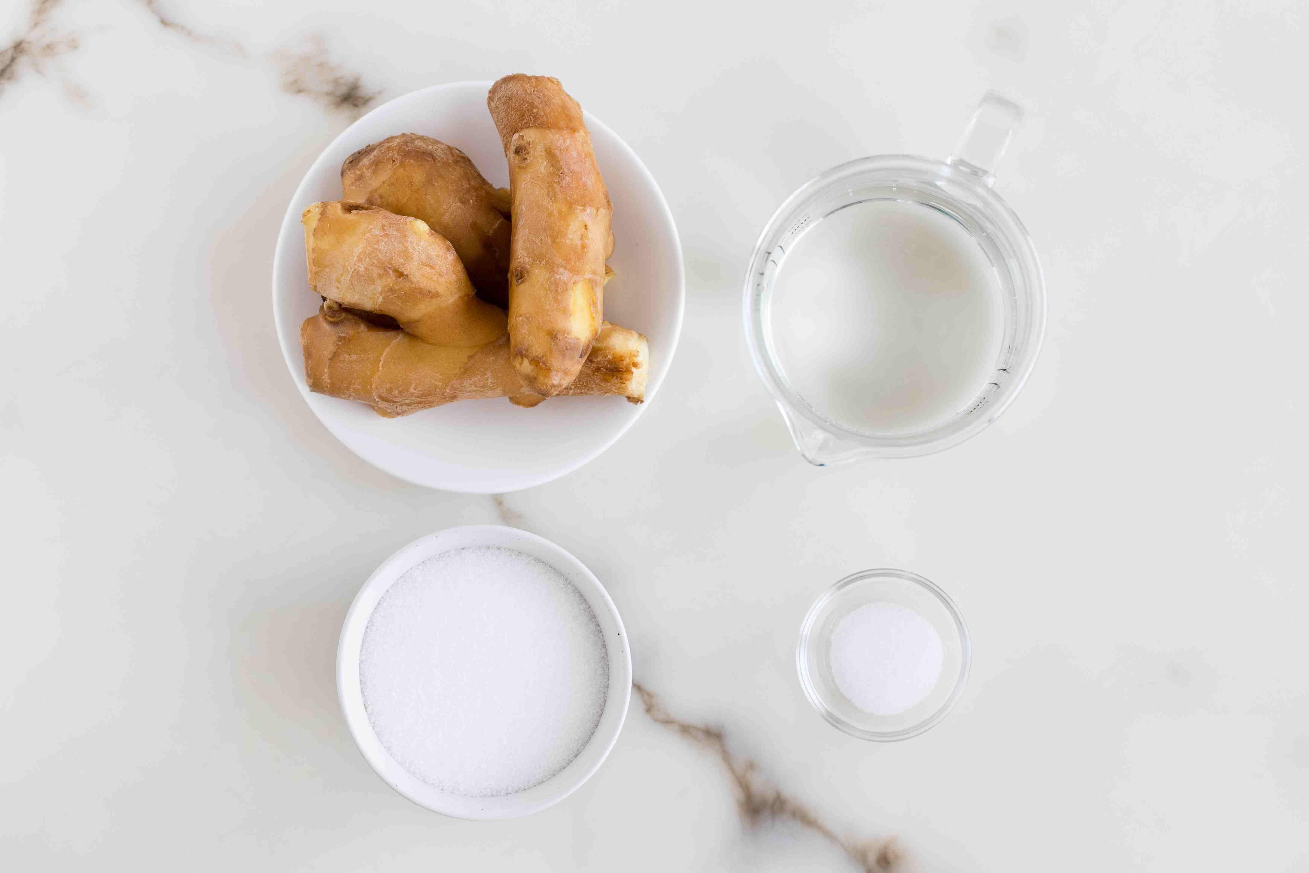 Ingredients for pickled ginger