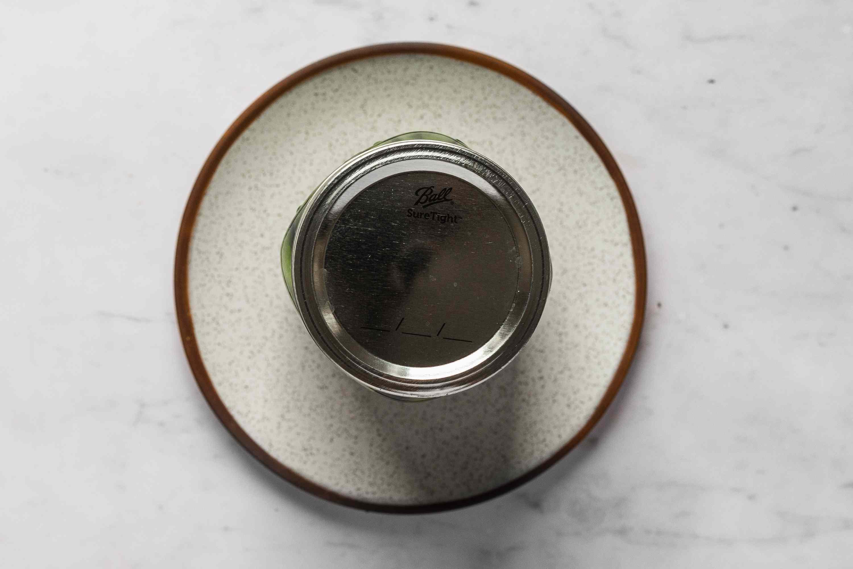 jar on a plate