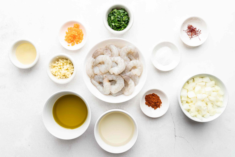 Shrimp Mozambique (Camarão Moçambique) ingredients