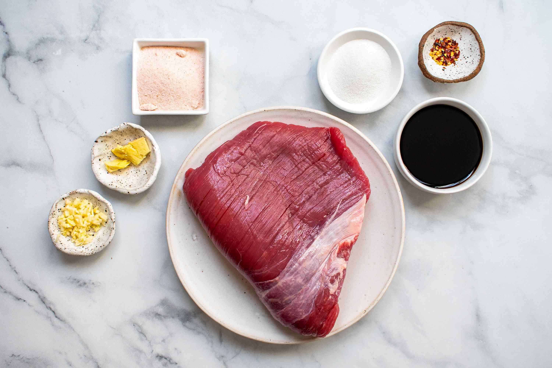 Hawaiian-Style Beef Jerky Recipe (Pipi Kaula) Recipe ingredients