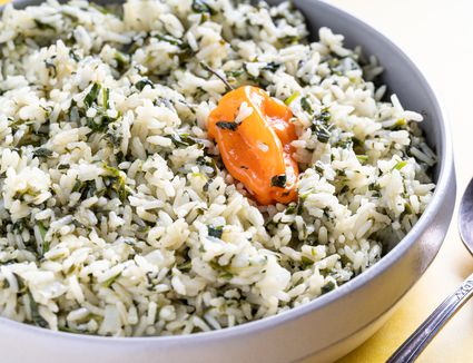 Simple Spinach Rice
