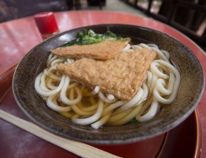 A bowl of kitsune udon