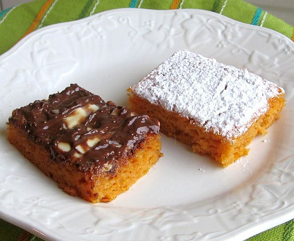 Fat-Free Pumpkin-Apple Angel Food Bars