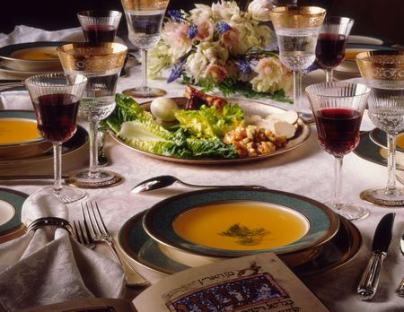 Setting The Table For Passover Seder