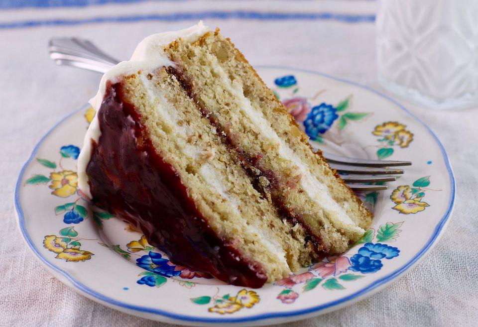 Raspberry Walnut Torte