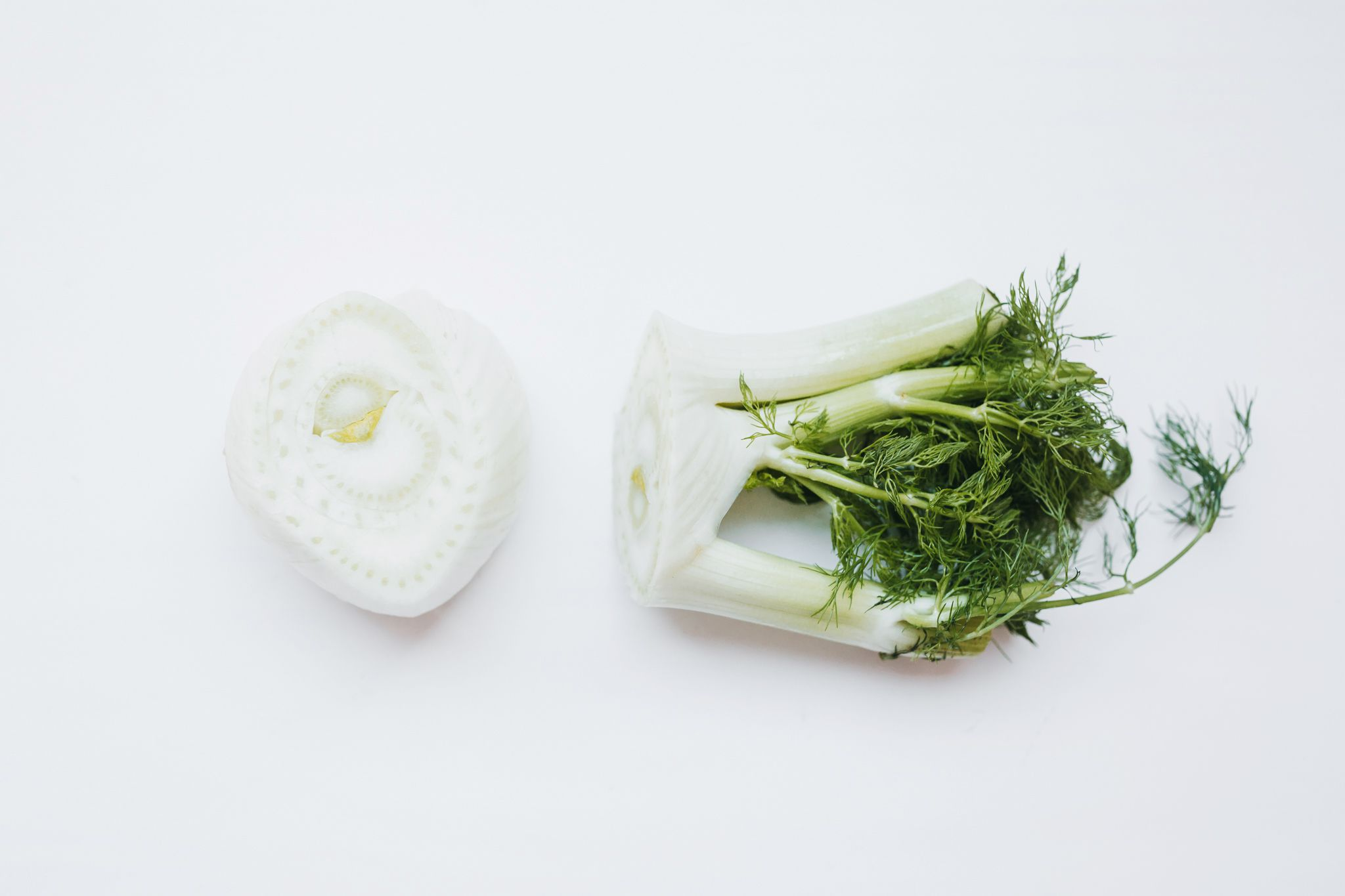 Discard root of fennel