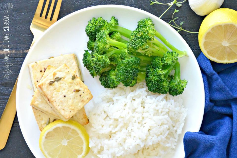 Baked Vegan Lemon tofu
